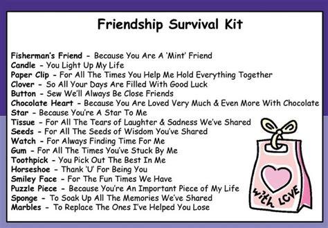 survival kits fun gift special friends  friend