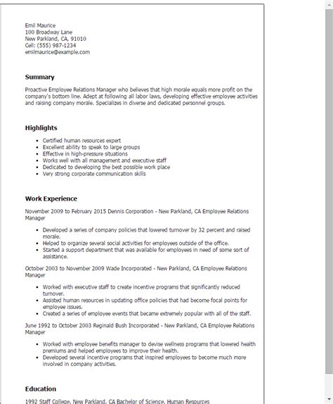 Relations Exle Resume by Relations Resume Template 28 Images Best Relations Resume Exle Livecareer Relations Resume