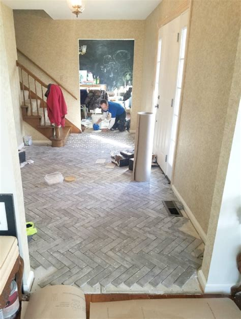 Entry Progress: Herringbone Brick Tile Floors ? House For Six
