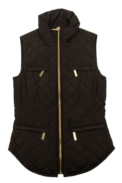 womens quilted vest michael michael kors s quilted packable puffer vest