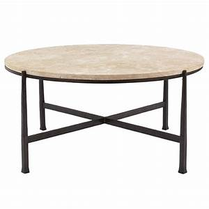 norfolk industrial loft round metal stone patio coffee With stone and metal coffee table