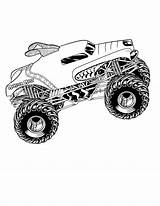 Monster Coloring Truck Pages sketch template