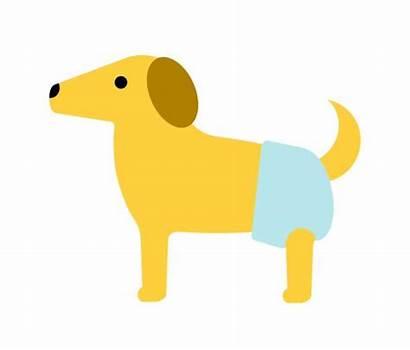 Diaper Changing Clip Dog Illustrations Illustration Vector