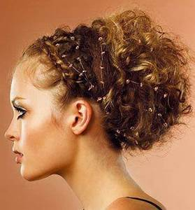 Coiffure Cheveux Courts Bouclés : coiffure mariage cheveux boucles ~ Melissatoandfro.com Idées de Décoration