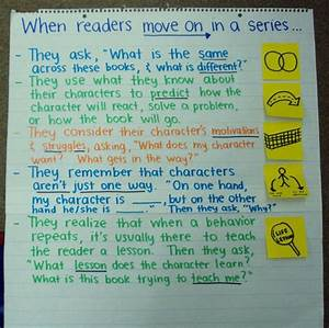 Anchor Charts For Reading Tips For Reading In A Series Reading Workshop Anchor