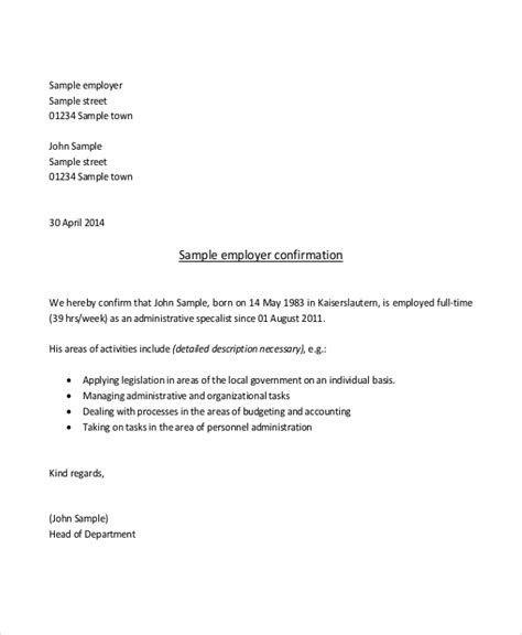 proof of employment letter template sle proof of employment letter 10 sle documents in pdf doc