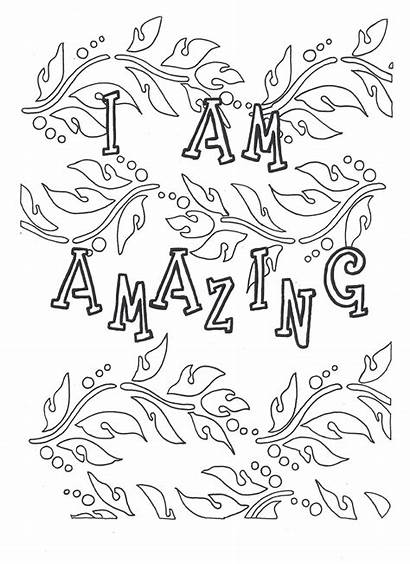 Coloring Self Pages Am Amazing Adult Printable