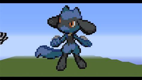 Minecraft Pixel Art Tutorial 76 -riolu-