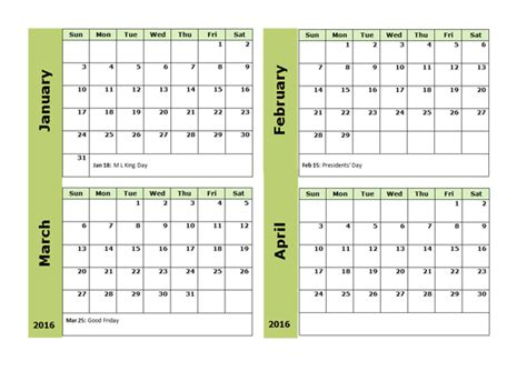 monthly calendar template  printable templates