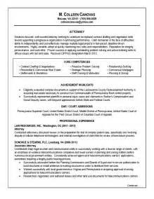 associate lawyer resume sle associate attorney resume