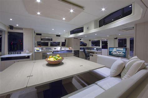 Catamaran Interior by Leopard 58 Catamaran Interior Photography Nautique Tv