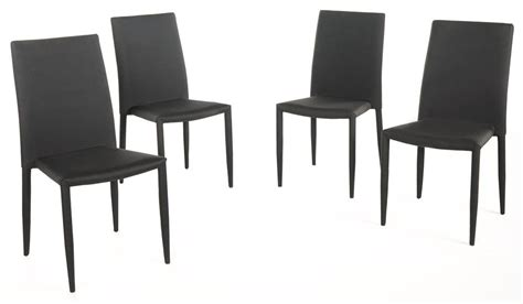 stacking dining chair in black set of 4 express home decor