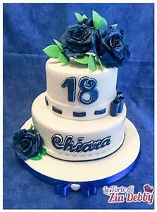 Rose blu per i diciotto anni di Chiara Le Torte di Zia Debby