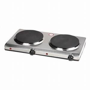 Plaque De Cuisson 2 Feux Electrique : plaque de cuisson lectrique inox 2 feux 1500 w domo ~ Dailycaller-alerts.com Idées de Décoration