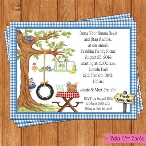 park picnic invitation family reunion template printable