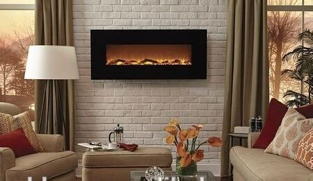 wall hanging fake electric fireplace decor flame