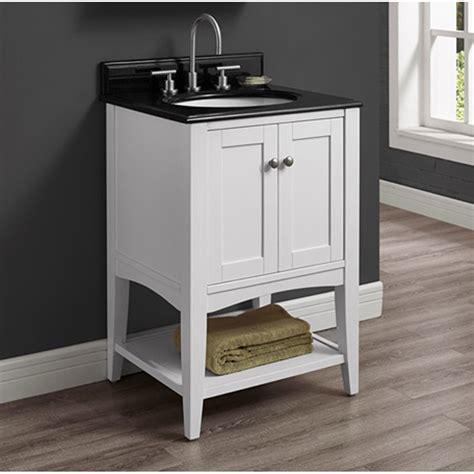 fairmont designs shaker americana  vanity open shelf