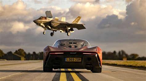 This is a clip from the most recent episode of top gear. Top Gear, McLaren Speedtail'i bir F35 jet uçağı ile yarıştırıyor