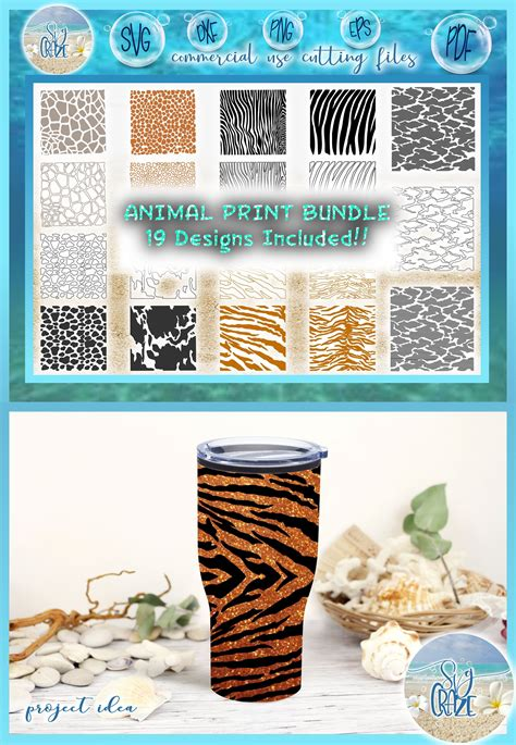 Collection by moment consulting • last updated 5 weeks ago. Animal Print Bundle SVG Dxf Eps Pdf PNG Files for Cricut ...