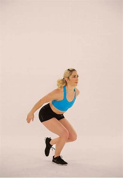 Leg Squat Single Jump Exercises Workouts Quads