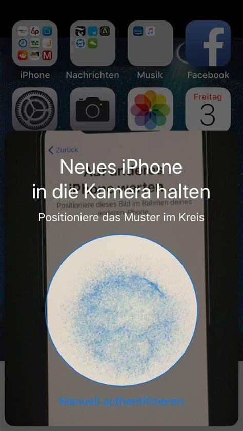 neues iphone einrichten mit iphone schnellstart funktion