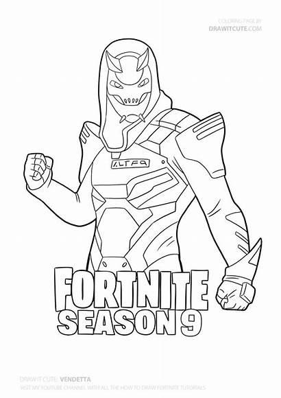 Coloring Draw Fortnite Characters Season Skins Skin
