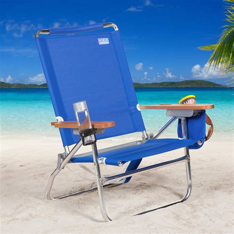 Rio Sc680c Blue Beach Bum Beach Chair  Beach Chairs At