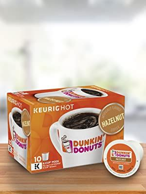 Each single serving cup of nutty perfection can be enjoyed in the comfort of your home. Dunkin' Donuts Hazelnut Coffee K-Cups, 10 ct: Amazon.com: Grocery & Gourmet Food