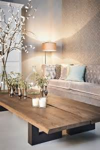 Wood Coffee Table for Living Room