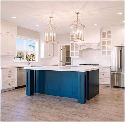 outstanding teal kitchen island image