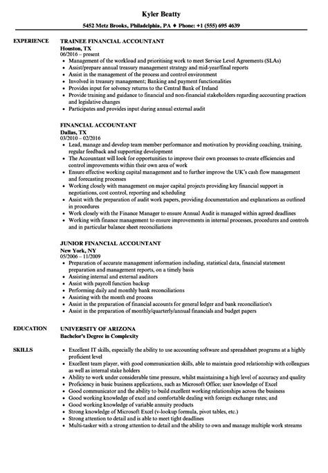 Accountant Resume by Financial Accountant Resume Sles Velvet