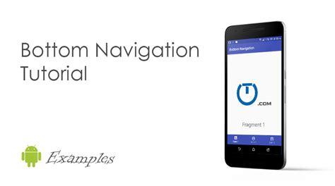 android navigation android bottom navigation bar exle truiton