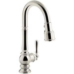 kohler pull kitchen faucet shop kohler artifacts vibrant polished nickel 1 handle pull kitchen faucet at lowes com
