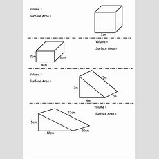 Starter On Volume And Surface Area By Steele1989  Teaching Resources Tes