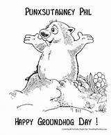 Groundhog Coloring Phil Pages Sheets Punxsutawney Happy Activity Ground Hog February Preschool Groundhogs Activities Clipart Sheet Printable Holiday Crafts Honkingdonkey sketch template
