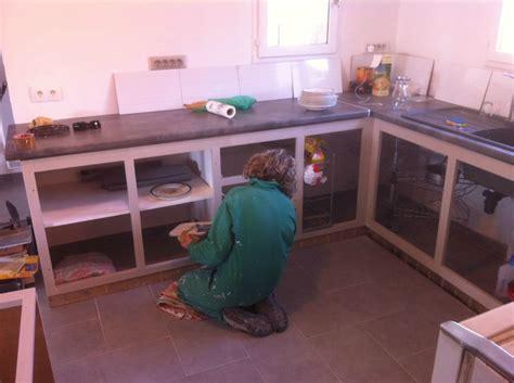 fabriquer sa cuisine en beton cellulaire faire sa cuisine en siporex diy kitchen home