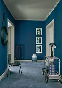 Schöner Wohnen Wandfarbe : wandfarbe in blau bilder ideen couch ~ Watch28wear.com Haus und Dekorationen