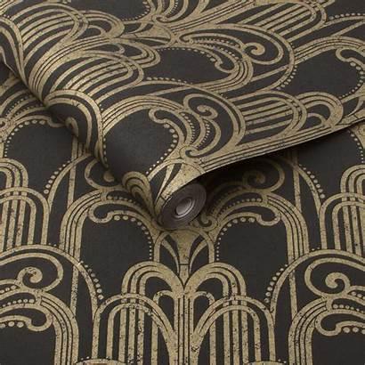 Deco Papier Peint Wallpapers Brown Nouveau Behang