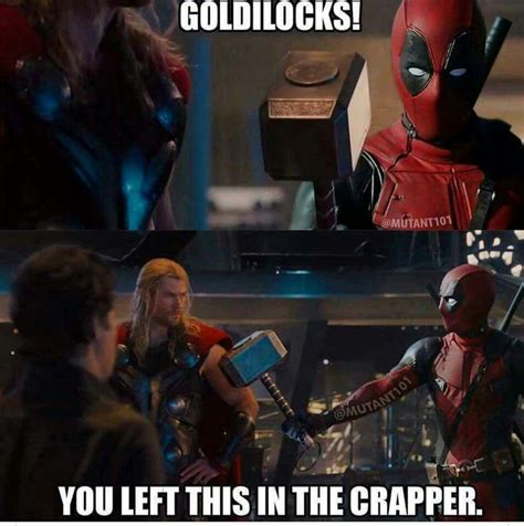 Dead Pool Meme - deadpool and thor deadpool and spidey pinterest deadpool thor and marvel