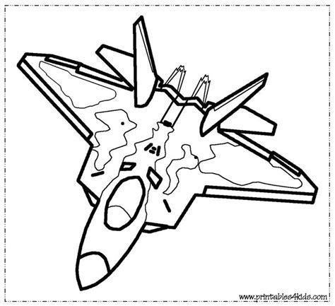 fighter jet coloring page printables  kids