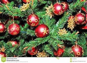 Weihnachtsbaum Mit Rosa Kugeln : weihnachtsbaum verziert mit roten kugeln lizenzfreie ~ Orissabook.com Haus und Dekorationen