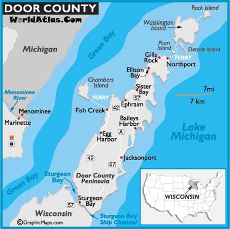 door county map door county verbena