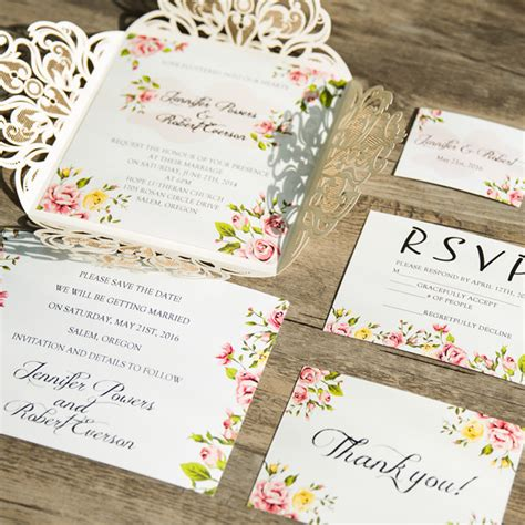 wedding invitations with pictures affordable wedding invitations with free response cards at wedding invites