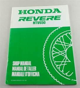 Workshop Manual Supplement  Addendum Honda Revere Ntv 650