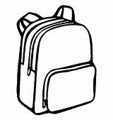 Backpack Drawing Bag Clip Coloring Pngio sketch template