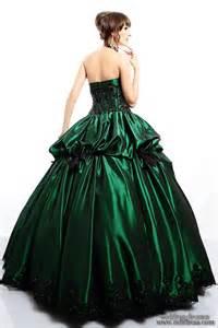 green dresses for wedding green mixed black wedding dress designs with corset dressespic 2013