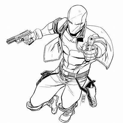Hood Jason Robin Todd Coloring Arkham Knight