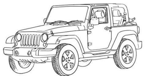jeep wrangler  road coloring page  road car car