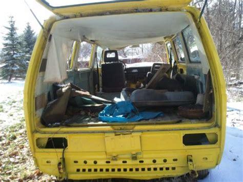buy  vw bus yellow vanagon  engine rolling