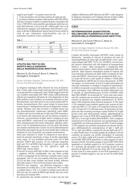 pdf utilit 192 test di igg avidit 192 nella diagnosi della